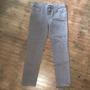 Free People brown ankle/cropped jeans